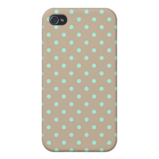 iPhone 4 Speck Case Hot Polka Dot Green and Beige iPhone 4 Cover