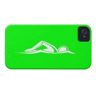 iPhone 4 Swim Logo Green iPhone 4 Cases