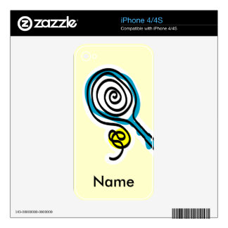 Iphone 4 tennis skin iPhone 4 decal