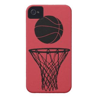 iPhone 4 toros de la silueta del baloncesto rojos iPhone 4 Cobertura