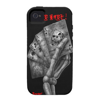 Iphone 4 tough - Game Over Deck of Cards Case-Mate iPhone 4 Covers