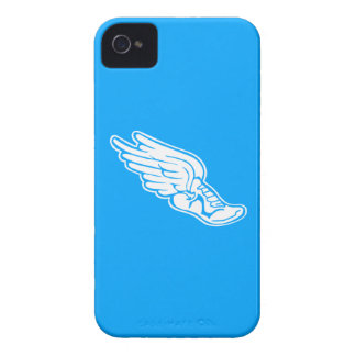 iPhone 4 Track Logo White on Blue iPhone 4 Cover