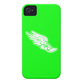 iPhone 4 Track Logo White on Green iPhone 4 Covers