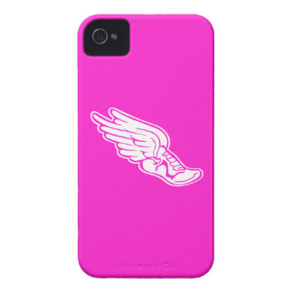 iPhone 4 Track Logo White on Pink Case-Mate iPhone 4 Case