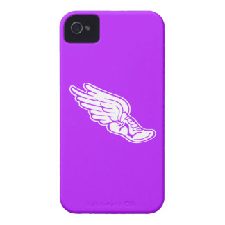 iPhone 4 Track Logo White on Purple iPhone 4 Case-Mate Case