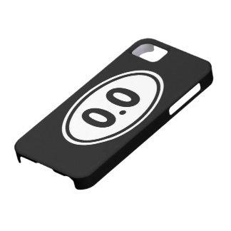 iPhone 5 0,0 divertidos no corro humor del caso iPhone 5 Carcasa