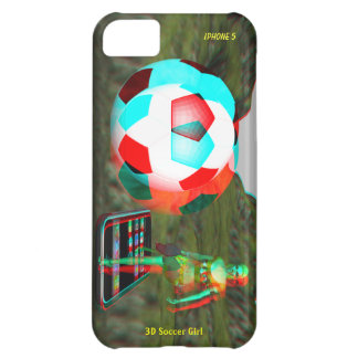 iPhone 5 3D Soccer Girl Case-Mate iPhone 5C Cover