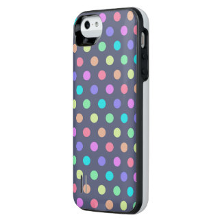 iPhone 5/5s Battery Case Polkadots