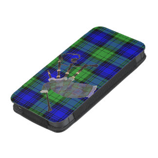 iphone 5/5s blue plaid bagpipes iPhone 5 pouch