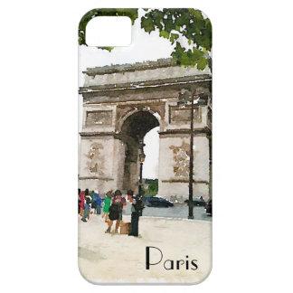 iPhone 5/5s case Arc de Triomphe watercolor