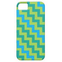iPhone 5/5s Case: Blue Moons Diagonal Chevrons iPhone SE/5/5s Case