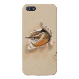"iPhone 5/5S case ""Carolina Wren"" by Camille Engel"