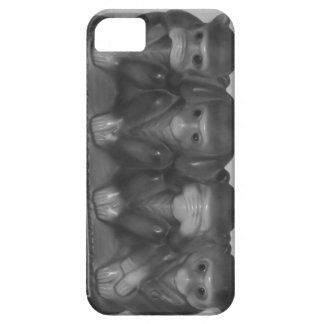 iPhone 5/5s case Speak hear see do NO evil monkey