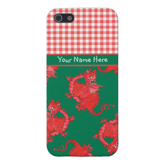 iPhone 5/5s Case to Personalize: Cute Red Dragon