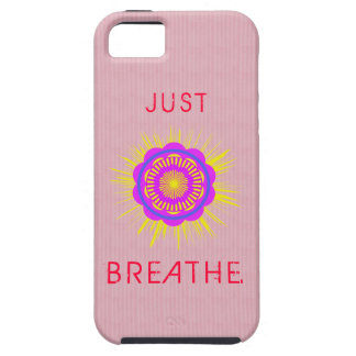 iPhone 5/5S Case with Saying, Just Breathe