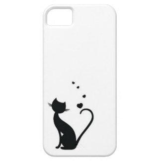 iPhone 5/5S, caso de los gatos del amor iPhone 5 Fundas