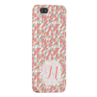 Iphone 5 5s Matte Triangle Aztec Pattern Monogram iPhone SE/5/5s Cover