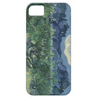 iPhone 5/5S, olivos de Van Gogh y cita iPhone 5 Fundas