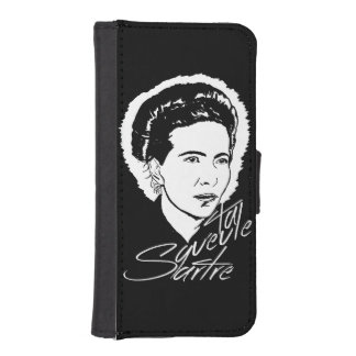 iPhone 5/5s Simone De Beauvoir Wallet Case