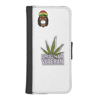 iPhone 5/5s Wallet Case Rasta man Drug war veteran