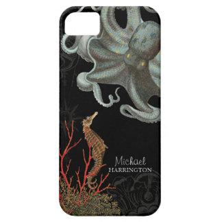 IPhone 5 - Aguafuertes del coral rojo del pulpo de iPhone 5 Case-Mate Fundas