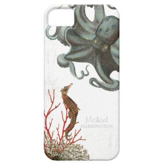 IPhone 5 - Aguafuertes del coral rojo del pulpo de iPhone 5 Cobertura