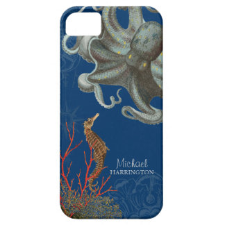 IPhone 5 - Aguafuertes del coral rojo del pulpo de iPhone 5 Protectores