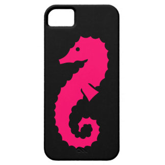 iPhone 5 Barely There Case Pink Seahorse on Black iPhone 5 Case