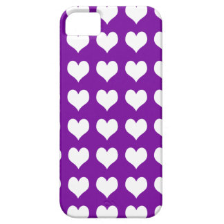 iPhone 5 Barely There Case Purple with Hearts