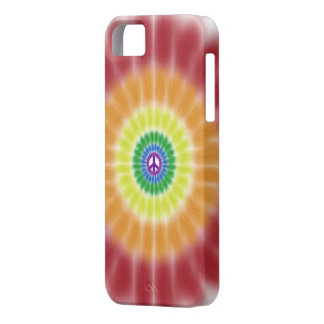 iPhone 5 Barely There Case, Rainbow Peace Burst iPhone 5 Covers