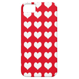 iPhone 5 Barely There Case Red with Hearts