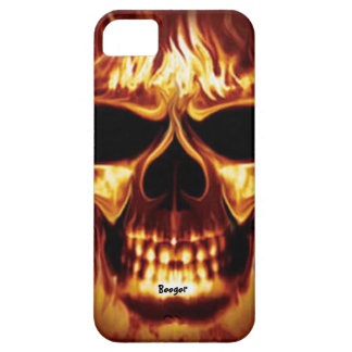 Iphone 5 barely there - Skull Face on Fire iPhone 5 Covers