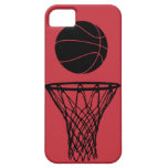 iPhone 5 Basketball Silhouette Bulls Red iPhone 5 Cover