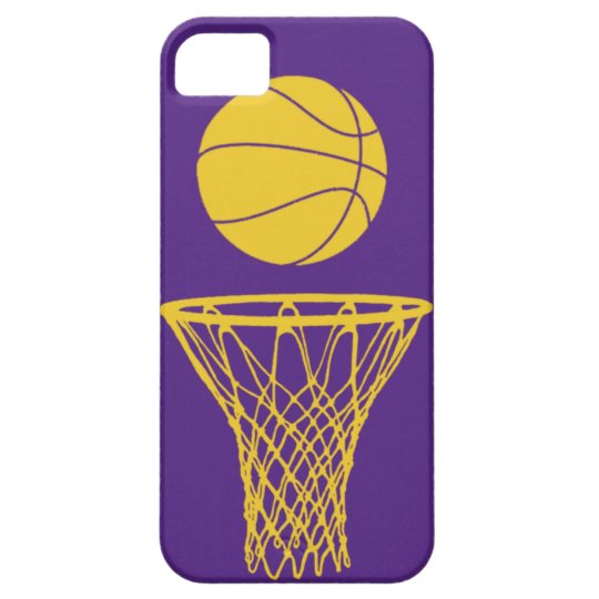 iPhone 5 Basketball Silhouette Lakers Purple iPhone SE/5/5s Case