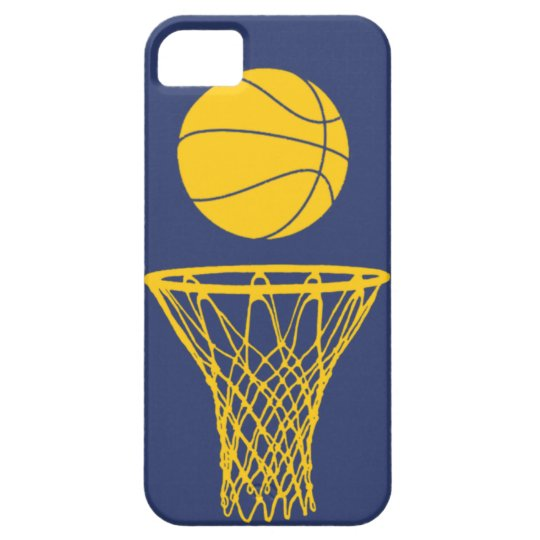 iPhone 5 Basketball Silhouette Pacers Blue iPhone SE/5/5s Case