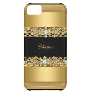 iPhone 5 Black Floral Gold iPhone 5C Case