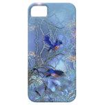 iPhone 5 Bluebirds azules con clase elegantes de l iPhone 5 Case-Mate Cárcasas