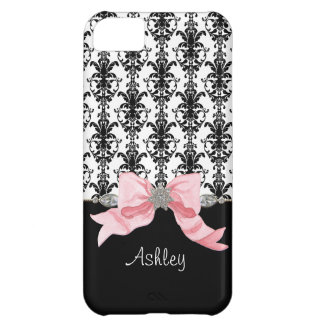 IPhone 5 Bow Floral Leaf Damask Ribbon Jewels Name iPhone 5C Case