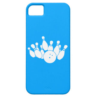 iPhone 5 Bowling Silhouette Blue iPhone SE/5/5s Case