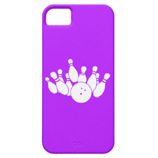 iPhone 5 Bowling Silhouette Purple iPhone SE/5/5s Case