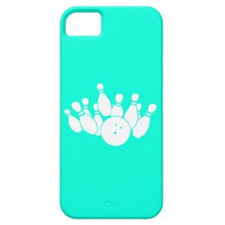 iPhone 5 Bowling Silhouette Turquoise iPhone SE/5/5s Case