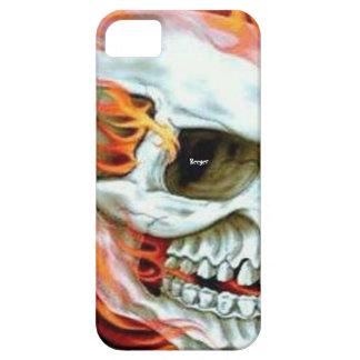Iphone 5 BT - cara del cráneo en el fuego iPhone 5 Fundas