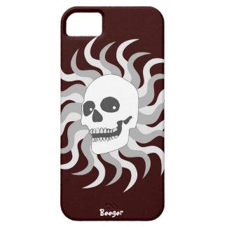 Iphone 5 BT - cráneo y llamas de Sun iPhone 5 Funda