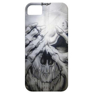 Iphone 5 bt - Peek-a-BOO Skull iPhone 5 Cover