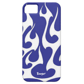 Iphone 5 bt - White Flame Old Skool iPhone 5 Case