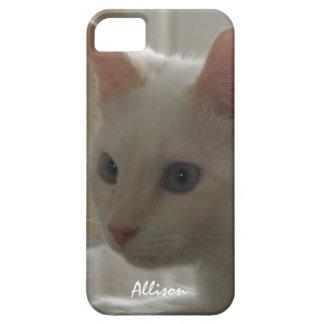 iPhone 5: Caja blanca personalizada del gatito iPhone 5 Case-Mate Cobertura