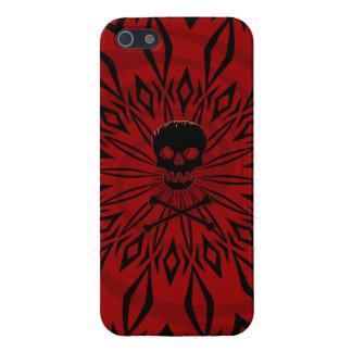 iPhone 5 Caja roja del cráneo de la rabia iPhone 5 Fundas