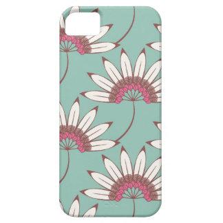 iPhone 5 case - Big flowers aqua