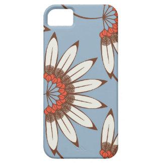 iPhone 5 case - Big flowers blue case