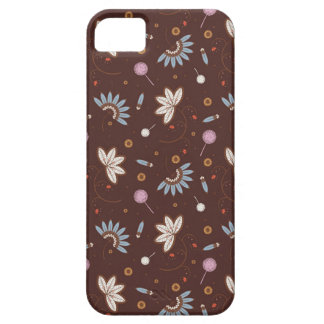 iPhone 5 case - Brown floral